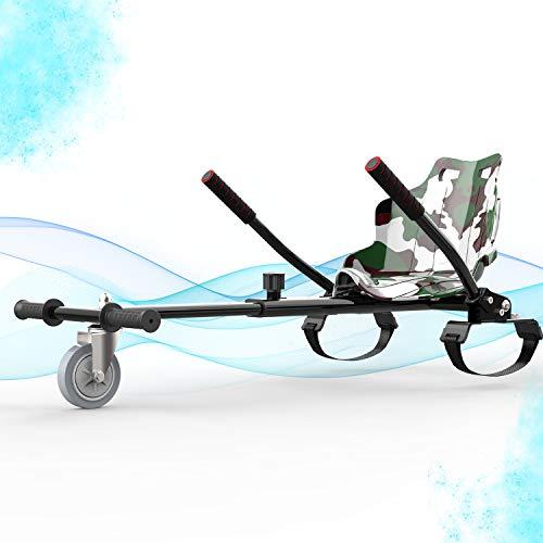 SOUTHERN WOLF Hoverkart GO-Kart Asiento, Compatible con 6,5'8' 10'Auto Equilibrio Hoverboard, Longitud Ajustable, gokart con Bandera
