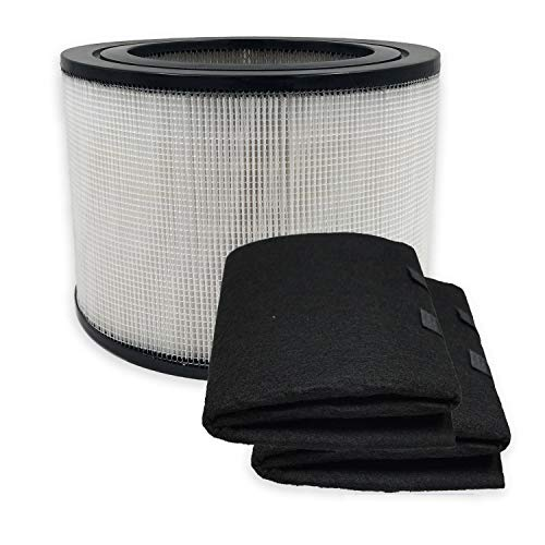 PUREBURG Replacement HEPA Filter and 2 Wrapping Carbon Pre-Filters Compatible with Honeywell 24000 24500 50250-S 52500