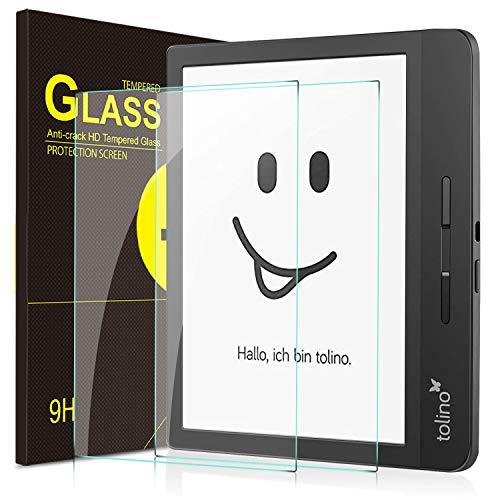 IVSO Panzerglas Schutzfolie Für Tolino epos 2 eBook-Reader 20.3cm, 9H Härte, 2.5D, Glas Panzerfolie Displayschutzfolie Für Tolino epos 2 eBook-Reader 20.3cm, 8 Zoll Modell, (2 x)