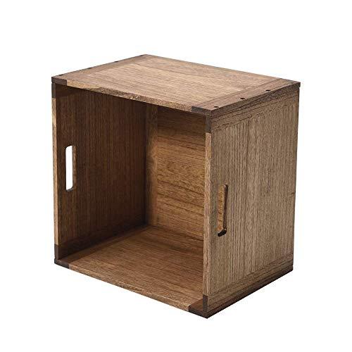 KIRIGEN cubos de almacenamiento apilables cubos de almacenamiento abierto para el hogar Libros Ropa Juguete Marrón Oscuro