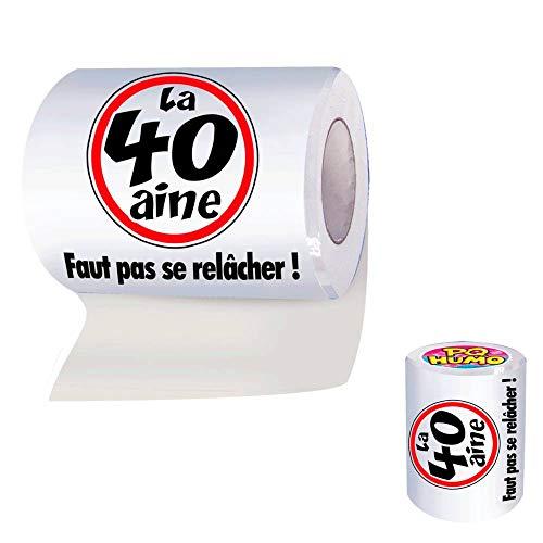 Papier WC humoristique 40 ans - 40aine