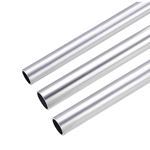 TPCYAN Tubo Redondo de Aluminio, 300 mm de Longitud, 21 mm-29mm de diámetro Exterior de 18 mm-27 mm diámetro Interior Redondo Tubo Hueco, tubería Recta Transparente, 1 unids (Size : 28×25mm)