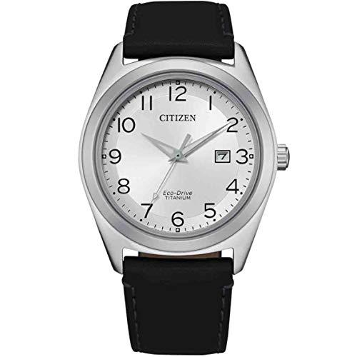 Citizen Reloj Analógico para de los Hombres de Cuarzo con Correa en Cuero AW1640-16A