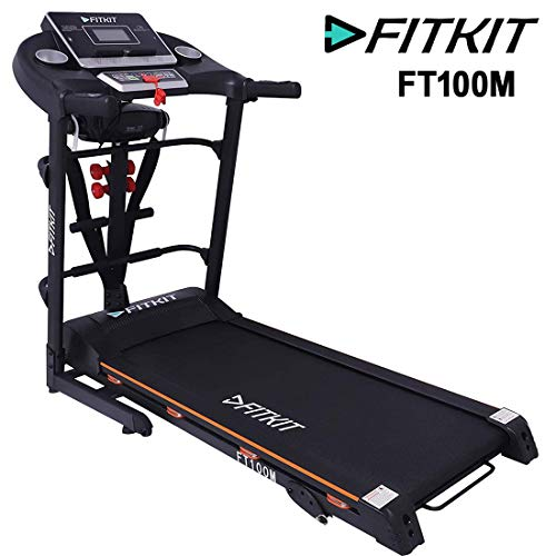 Fitkit FT100 Series Multifunction 1.75HP (3.25HP Peak) Motorized Treadmill With Free Diet & Fitness Plan