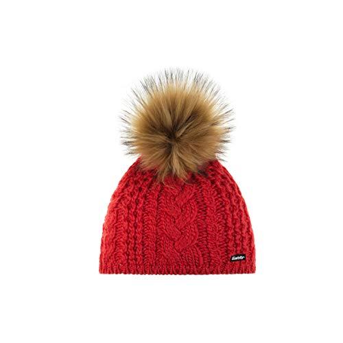 Eisbär Mädchen Afra Lux Mütze, corallerot/Real, 55