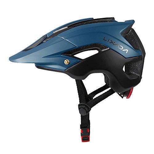 Lixada Ultraleichter Schutzhelm mit 13 Winde für Mountainbike, Radfahren (Dunkelgrün + Schwarz)