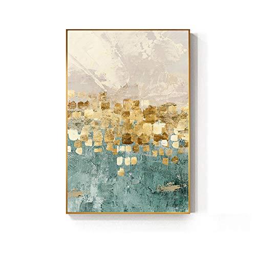 Tiffany blaue Goldmünze Stern Malerei Poster Mode Wandkunst Leinwand Malerei Heimtextilien