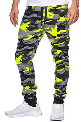 OneRedox Herren Jogging Hose Jogger Streetwear Sporthose Modell 794 Gelb XL