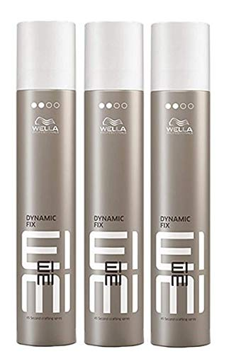 Wella EIMI Dynamic Fix 45 Sec. Haarspray 3 x 300 ml Styling Fixing Hairspray Modeling Spray Professionals by Wella