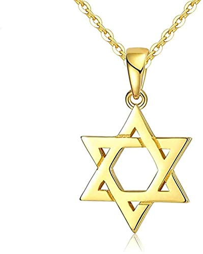 NC110 Necklace for Women Men Star of David Pendant 925 Sterling Silver Israel Chain Necklace Women Vintage Jewish Judaica Fine JewelryPendant Necklace Girls Boys Gift YUAHJIGE