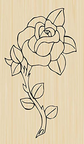 Single Rose Rubber Stamp by DRS Designs - Made in USA