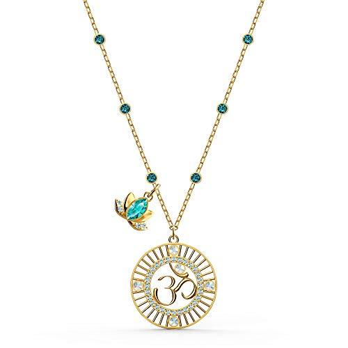 SWAROVSKI Symbolic Lotus Pendant Necklace Light Multi/Green One Size