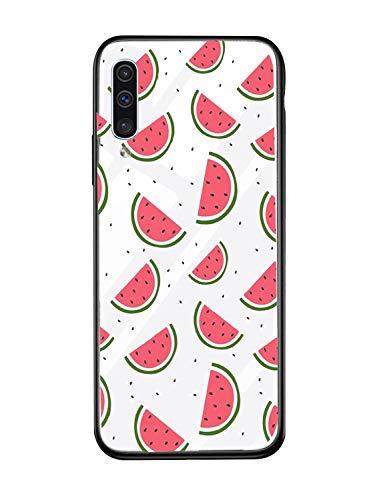Alsoar Case ersatz für Samsung A10 Hülle Transparent Silikon Handyhülle Durchsichtig Antikratz Schutzhülle,Gehärtetem Glas Rückseite mit Soft Rahmen Tier Süß Shell für Galaxy A10 (Wassermelone)