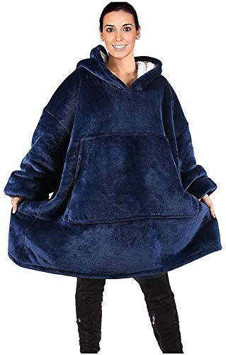 Kissai - Manta de gran tamaño para televisor, con capucha y mangas y bolsillos
