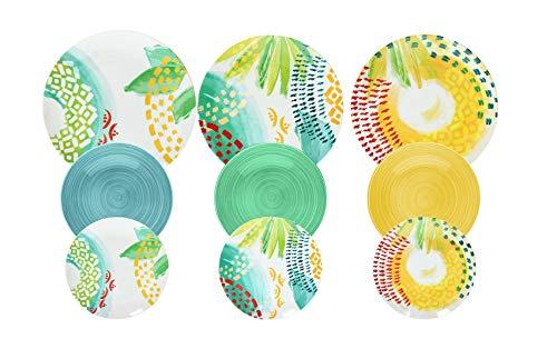 Tognana ME070185596 Sunny - Vajilla de 18 piezas (porcelana)