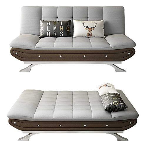 RSTJ-Sjcw Futon-Schlafsofa - Cabrio-Schlafsofa-Couch-Schläfer mit verstellbaren Rücken-Andmetallfüßen - Home Guest Comfort Kompakte Sitzmöbel