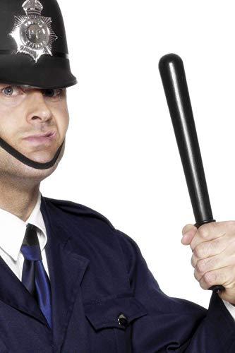 Smiffys 23918 - Quietschende Polizisten Schlagstock PVC, 33 cm, schwarz