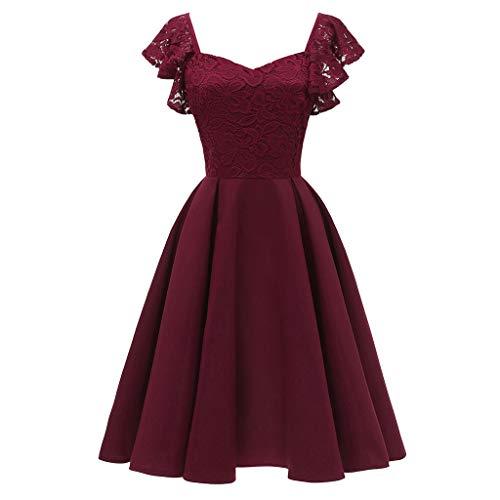ReooLy Abendkleider Abendkleid Rockabilly gnstige kurz gelb hochwertig Ohrringe weie BH rckenfrei Elegante Abendkleider Kurze rosa Abendkleid...