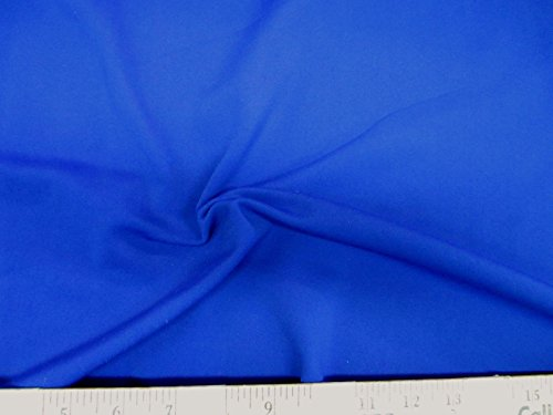 Discount Fabric Polyester Spandex 4 Way Super Stretch Royal Blue LY987