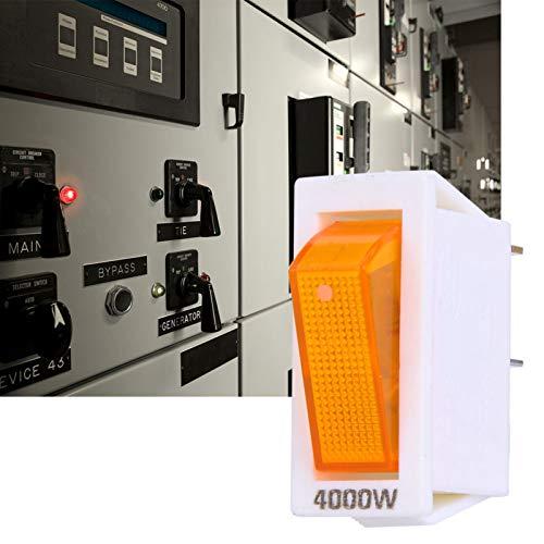 Interruptor basculante de Encendido/Apagado, Interruptor basculante de 10 Piezas, Interruptor basculante a presión con luz, para Interruptor de desconexión, para dispensador de Agua