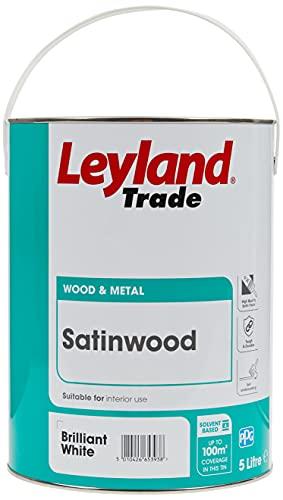 5 LTR LEYLAND TRADE SATINWOOD BRILLIANT WHITE