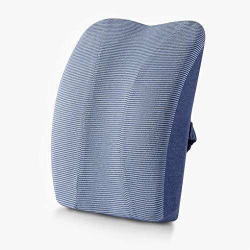 Memoria de automóvil Cojín de algodón Oficina de automóvil Cojín Lumbar Almohada Respaldo Soporte Lumbar Azul