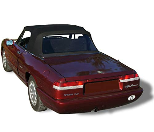 Compatible With Alfa Romeo Spider, Veloce, Graduate Convertible Top Replacement & Plastic window 1971-1994 Pinpoint Vinyl