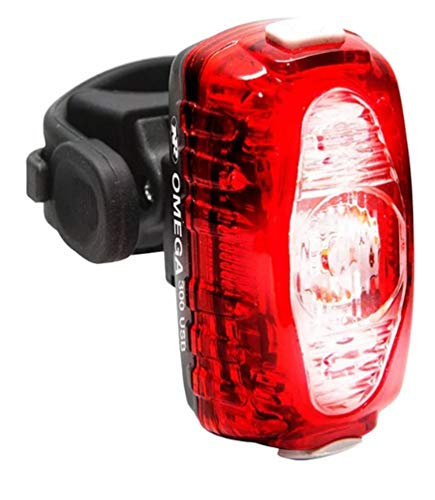 NiteRider Omega 300 Lumens USB Rechargeable Bike Tail Light Powerful Daylight Visible Bicycle LED Rear Light Easy to Install Road Mountain City Commuting Adventure Cycling Safety Flash