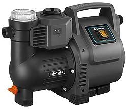 Gardena Hauswasserautomat 3500/4E: Robuste Hauswasserpumpe, vollautomatisch, mit LED-Blinklicht-Frequenz, Fördermenge 3500 l/h, Thermoschutzschalter, Trockenlaufsicherung (1757-20)