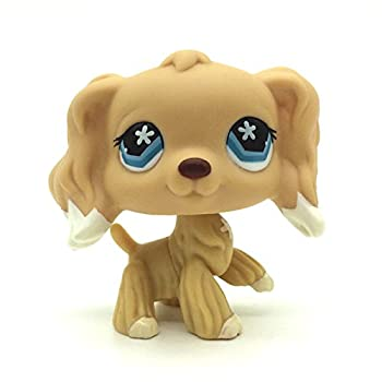Small pet Shop Animals LPSS #748 Blue Star Eye Cocker Dog Figure Loose Toys  16