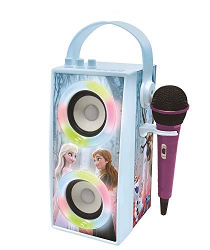 Lexibook- Disney Frozen-Altoparlante Portatile Bluetooth con Microfono, Effetti di Luce, Karaoke,...
