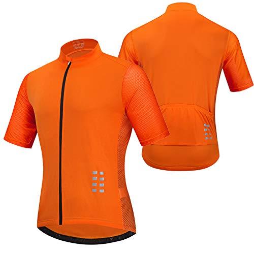 Maillot Ciclismo Manga Corta Hombre,Secado Rápido Transpirable Elástico Ropa Bicicleta,MTB Camiseta Ciclismo...