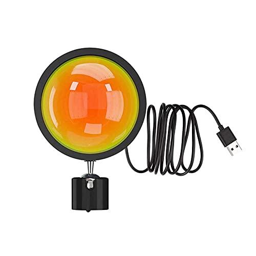 Lámpara de proyección del atardecer, proyector de luz de soporte de piso, lámpara de proyección arco iris Luz LED, lámpara de iluminación de humor USB (Color : C)