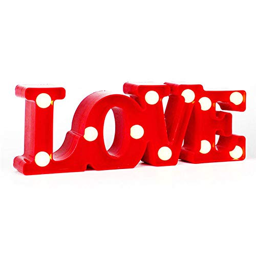 3D Love Heart Led Letter Lamp Indoor Decorative Sign Night Light Marquee Wedding Party Gift Romantic