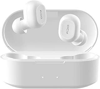 QCY T2C TWS BT5.0 Wireless Earphones with Dual Mircophone 3D Stereo Bluetooth Headphones For All Phones White
