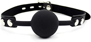 Tabuy PU Leather Paly Buckle Belt Silicon Mouth Ball Open Breathable Mouth Gag For Men Woman
