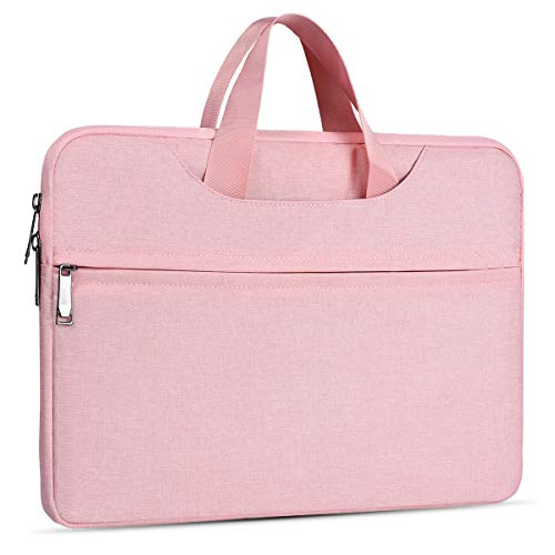 13.3 14 Inch Laptop Bag for Women, Office Briefcase Tablet Laptop Case for Acer Chromebook R13/Acer Spin 3, Lenovo Yoga 730 720 13.3/Yoga C930, Asus ZenBook, HP Envy, LG Gram Sleeve Case(Pink)