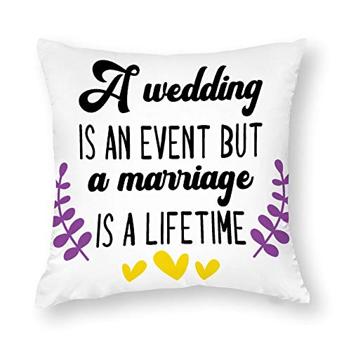 U255uy A Wedding Is An Event Cotton Throw Pillow Covers Square 45 * 45cm Pillow Cases Coushion Case for home sofa car