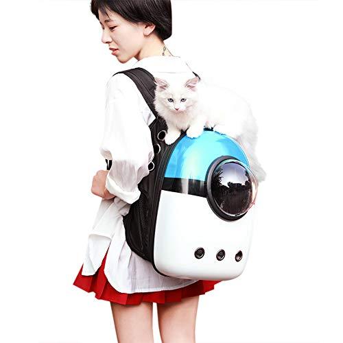 Haustier Rucksack Raumkapsel Pet Bag Tragbare Haustiertasche Hund Katze Tragetasche mit Luftlöcher Atmungsaktive Hundtasche Katzentasche Outdoor Reise Transportbox für kleine Haustier 42 x 32 x 29 cm