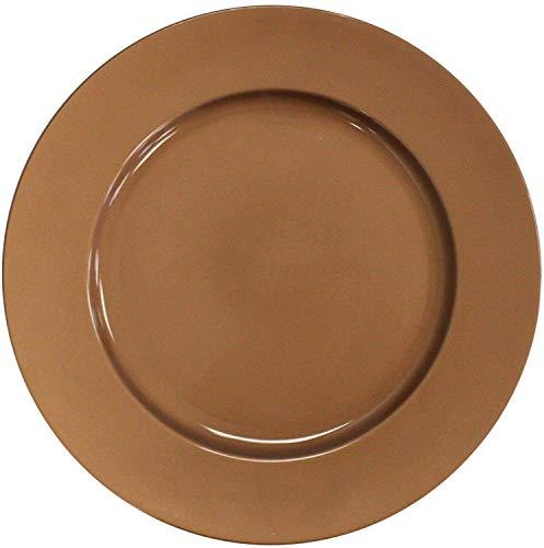 Set mit 4 Glänzend Kupfer Plastik 33cm Rund Ladegerät Teller unter Teller