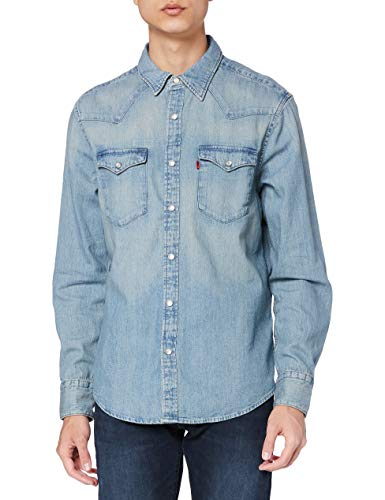 Levi's Barstow Western Standard Camisa, Blue (Red Cast Stone 0001), X-Large para Hombre