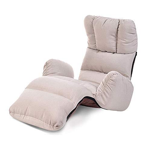Fußbodensofa mit Armlehnen, verstellbarer verstellbarer Soft-Bettstuhl, Home-Lounge-Sessel, Multi-Color-Option - Grün (Farbe : Gray)