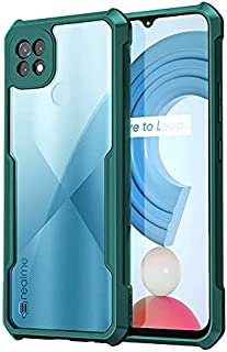 Realme C21Y / C12 / C25 Silicone Case Anti-shock Protector Camera Shockproof Corners - By Dl3 Mobailk (Green)