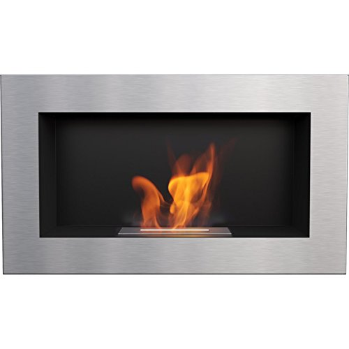 %26 OFF! Domadeco Georgia Black S wall mounted bioethanol fireplace modern style fireplace