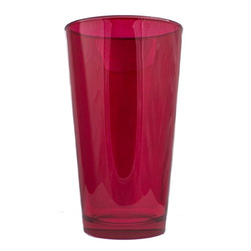 4 Pack - Ruby Red - 16 Ounce Drink Glass