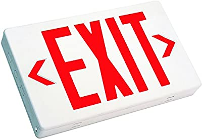 Westgate LED Exit Sign Emergency Light - Lighting Emergency LED Light With Battery Backup - For Residential & Commercial