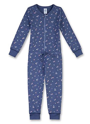 Sanetta Mädchen 232018 Einteiliger Schlafanzug, Blau (Fjord 50154), 92