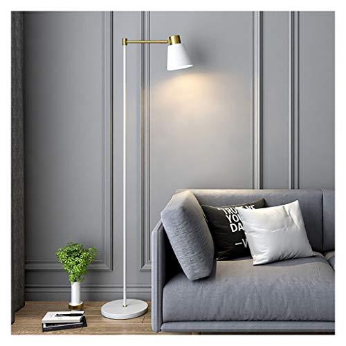ZGP-LED Luces de Piso Lámpara de pie de Metal Blanco Simple Piano nórdica lámpara del salón del sofá del Dormitorio de Interruptor de iluminación Decoración Trabajo de Lectura lámpara de pie/Control