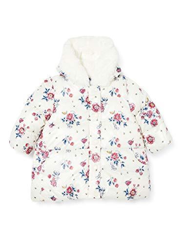 Petit Bateau - Plumífero para bebé niña Marshmallow/Multicolor 24 Meses