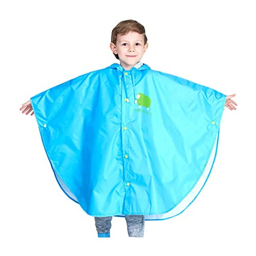 Wetry Poncho Pioggia Bambino Mantella Impermeabile Bambina Mantellina Antipioggia 100%...